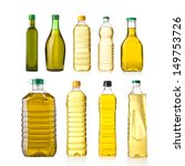 sunflower and olive oil in a...   Shutterstock . vector #149753726