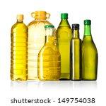 olive oil bottles on white... | Shutterstock . vector #149754038