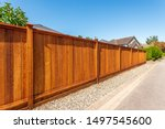 Fence Built From Wood. Outdoor...