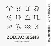 zodiac signs. vector astrology... | Shutterstock .eps vector #1497550289