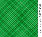 Seamless Diagonal Green Plaid