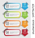 web banners with infographics... | Shutterstock .eps vector #149756729