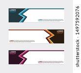 modern style of web banner...   Shutterstock .eps vector #1497592076