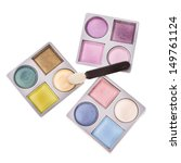 eye shadow boxes of different... | Shutterstock . vector #149761124