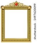 golden classic rococo baroque... | Shutterstock .eps vector #1497620099