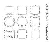 set of vintage frames on white... | Shutterstock . vector #1497631166
