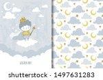 little golden prince boy on the ...   Shutterstock .eps vector #1497631283
