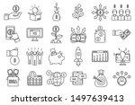 crowdfunding idea icons set.... | Shutterstock .eps vector #1497639413