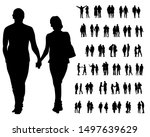 couple of young guy and girl on ... | Shutterstock . vector #1497639629