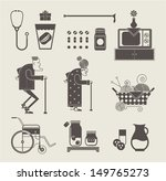 granny icons | Shutterstock .eps vector #149765273