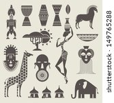 africa icons | Shutterstock .eps vector #149765288