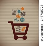 shopping icons over lineal ... | Shutterstock .eps vector #149765729