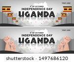 uganda independence day...   Shutterstock .eps vector #1497686120