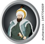 vectoral illustration of sultan ... | Shutterstock .eps vector #1497704009