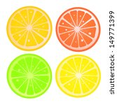 various citric slices against... | Shutterstock .eps vector #149771399