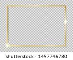 gold shiny frame. golden luxury ... | Shutterstock .eps vector #1497746780