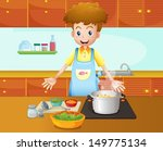 illustration of a male chef... | Shutterstock .eps vector #149775134