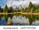 Landscape Of Mountains And...