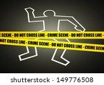 illustration of a police line... | Shutterstock . vector #149776508