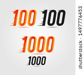 number one hundred  100  and... | Shutterstock .eps vector #1497776453