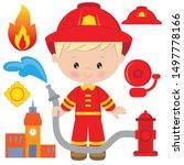 Cute Blonde Boy Firefighter...