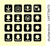 set of download icons | Shutterstock .eps vector #149778470