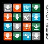 download icon set | Shutterstock .eps vector #149778548