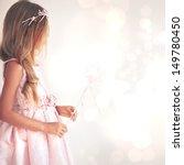Beautiful Little Girl Wearing...