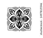 mandala circle texture template ... | Shutterstock .eps vector #1497815546