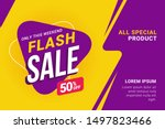 flash sale discount banner... | Shutterstock .eps vector #1497823466