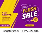 flash sale discount banner... | Shutterstock .eps vector #1497823586