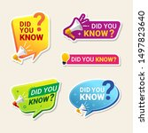did you know label banner... | Shutterstock .eps vector #1497823640