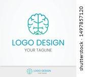 creative brain logo design... | Shutterstock .eps vector #1497857120