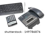 office desk with calculator... | Shutterstock . vector #149786876