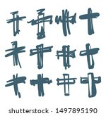 draw the cross symbol is a...