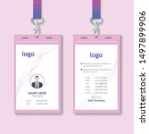 creative id card template with... | Shutterstock .eps vector #1497899906