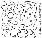 doodle set of pencil drawing...   Shutterstock .eps vector #1497906956