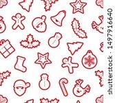 festive new year seamless... | Shutterstock .eps vector #1497916640
