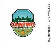 summer camping illustration...   Shutterstock .eps vector #1497941693