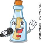 Singing Message In Bottle On A...