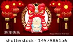 happy chinese new year. with... | Shutterstock .eps vector #1497986156