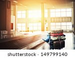 suitcases on a cart at the...   Shutterstock . vector #149799140
