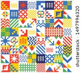 saudi arabia art pattern....   Shutterstock .eps vector #1497996320
