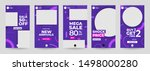 design template set of social... | Shutterstock .eps vector #1498000280