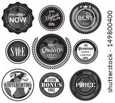 retro vintage badges and labels ... | Shutterstock .eps vector #149800400