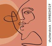 Terracotta Line Art Print...