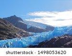 Dramatic Blue Glacier Ice Flow...