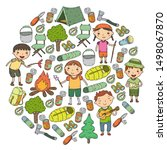 summer camp children  kids...   Shutterstock .eps vector #1498067870