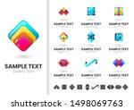 modern shape vector for banner  ... | Shutterstock .eps vector #1498069763