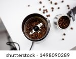 Coffee Grinder On White Kitche...